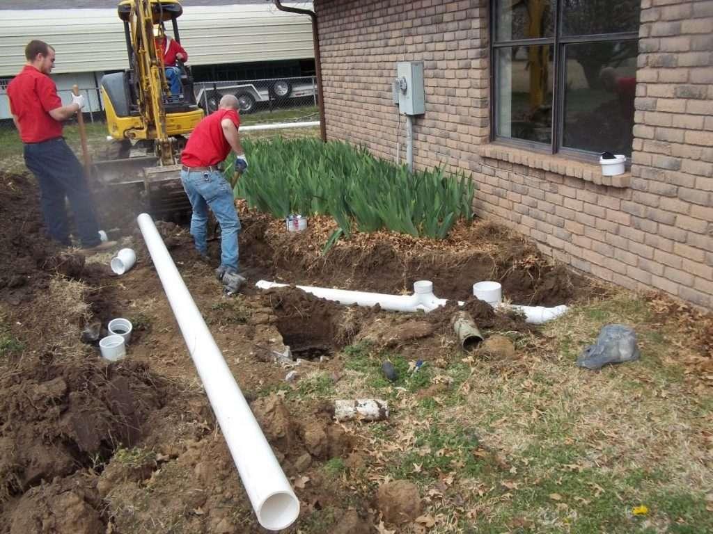 sewer repair in backyard
